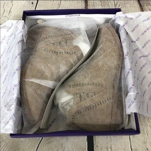 TOP Moda Shoes - Tan Ankle Booties Nordstrom Top Moda Size 6 NWT
